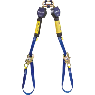 Twin leg web 2.7 m with twin leg quick connector, self-locking/closing gate, 19 mm opening - The PPE Shop