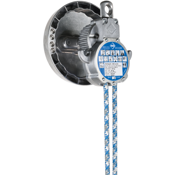 ABS3aWH - Controlled Descent Device - Aluminium Housing,  Kernmantle Rope Lifeline - Integral Hoisting Facility - The PPE Shop