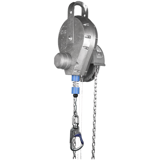 HRA (S) - Fall Arrest Recovery Block - Aluminium Housing, Steel Cable Lifeline with Chain Driver Mechanism - The PPE Shop