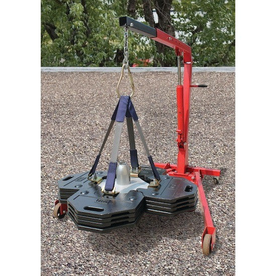 Web sling lifting kit for 2100180 Roof Top Counterweight Anchor system with attachment hardware. - The PPE Shop