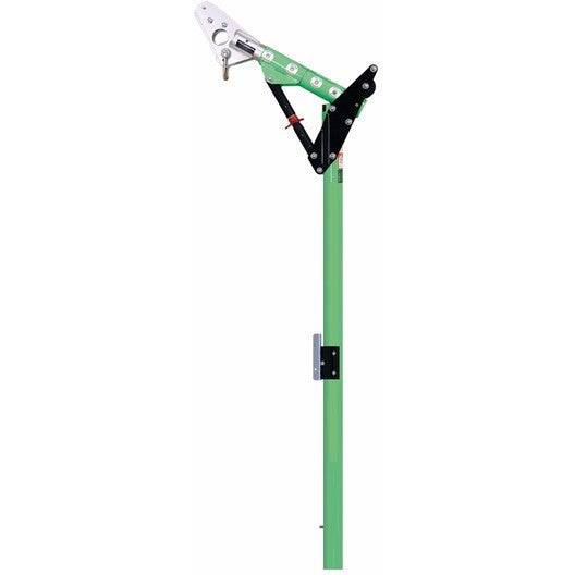 One-piece 11-1/2 in. to 27-1/2 in. (29.2 to 69.8 cm) adjustable offset davit mast with 90 in. to 100 in. (228.6 to 254 cm) anchor point height. - The PPE Shop