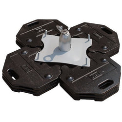 Freestanding counterweight anchor with 16 plates weighing 20 kg (45 lb) each, includes 4 PVC-coated base plates. - The PPE Shop