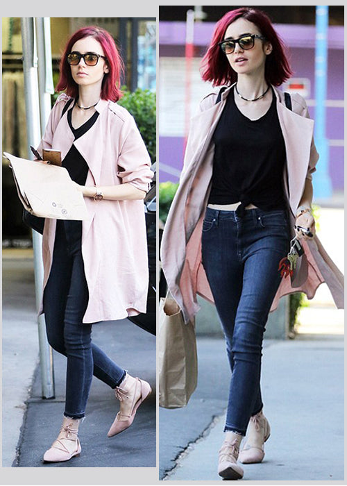 Lily Collins Fashion Style