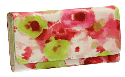 SWANKYSWANS Gail Abstract Floral Wallet Pink