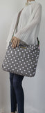 Swanky Swans Kirsty Polka Dot Crossbody GreyWomens Girls Boys School Crossbody Animal Cute