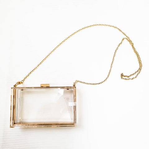 Essme See Through Transparent Clear Acrylic Party Clutch Bag