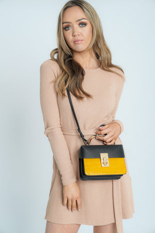 Amanda Structured Crossbody Mustard Yellow