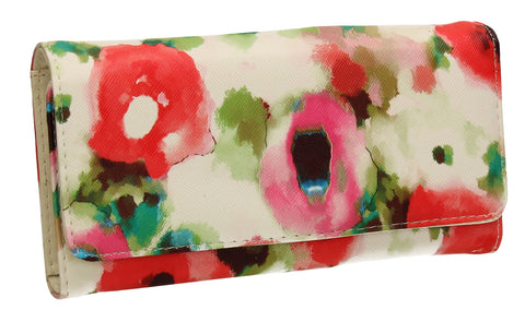 SWANKYSWANS Gail Abstract Floral Wallet White