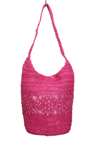 Swanky Swans Soft Bucket Style Pink Beach Tote Bag Summer HandbagPerfect for School, Weddings, Day out!