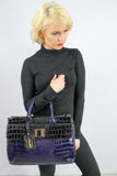 Bedford Handbag Black & Navy