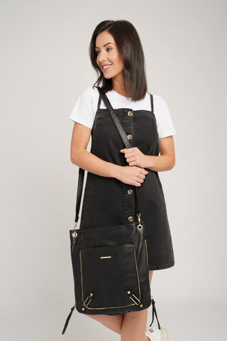 Eva PU Leather Crossbody Black