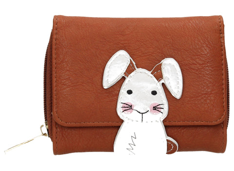 Rupert Rabbit Animal Snap Wallet - Tan-Purse-SWANKYSWANS