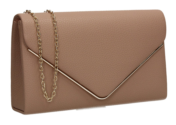 Erica Envelope Clutch Bag Apricot