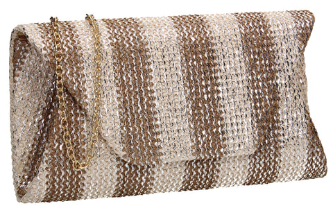SWANKYSWANS Brook Clutch Bag Apricot Cute Cheap Clutch Bag For Weddings School and Work