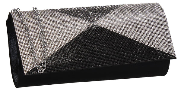 Swanky Swans Arya Clutch Bag Black Womens Ladies Clutch Bag Cute