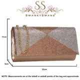 SWANKYSWANS Arya Clutch Bag Champagne Cute Cheap Clutch Bag For Weddings School and Work