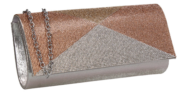Swanky Swans Arya Clutch Bag Silver Womens Ladies Clutch Bag Cute