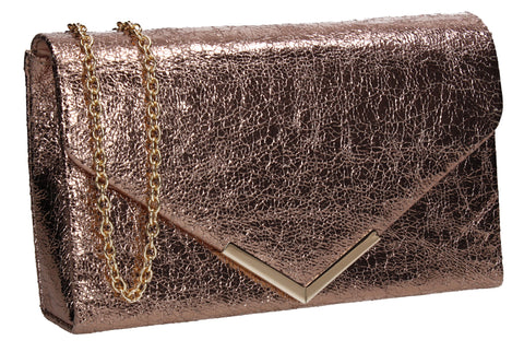 SWANKYSWANS Averie Clutch Bag Champagne Cute Cheap Clutch Bag For Weddings School and Work