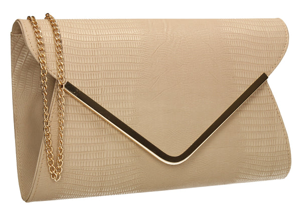Lauren Clutch Bag Beige