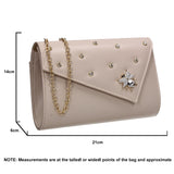 SWANKYSWANS Nylah Clutch Bag Beige Cute Cheap Clutch Bag For Weddings School and Work