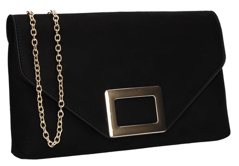 SWANKYSWANS Georgia Clutch Bag Black