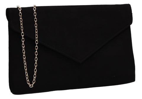 SWANKYSWANS Rosa Clutch Bag Black Cute Cheap Clutch Bag For Weddings School and Work