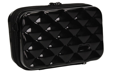 Natalia Acrylic Shell Compact Box Crossbody Bag Black