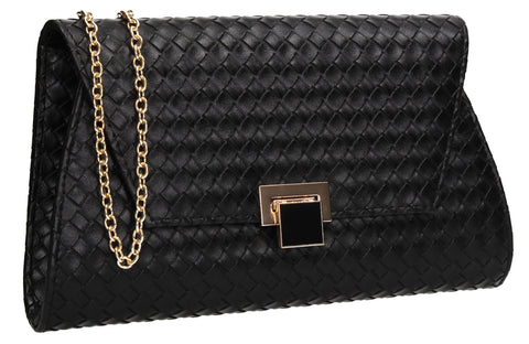 SWANKYSWANS Tyler Clutch Bag Black Cute Cheap Clutch Bag For Weddings School and Work