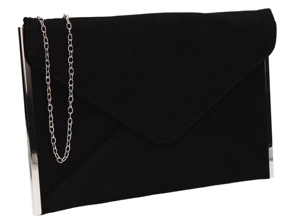 Louis Slim Clutch Bag Black