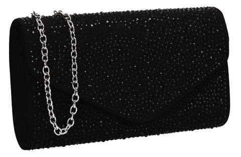 SWANKYSWANS Cadence Clutch Bag Black Cute Cheap Clutch Bag For Weddings School and Work