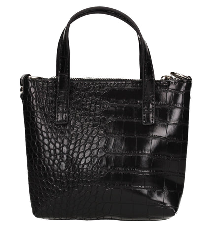 Hallie Faux Leather Croc Effect Mini Tote Crossbody Bag