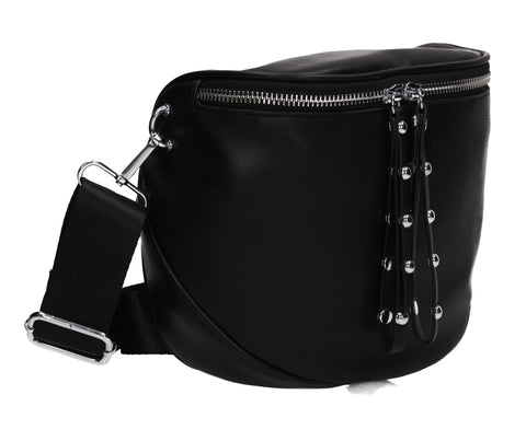 Terri Camera Bag Faux Leather Crossbody Black
