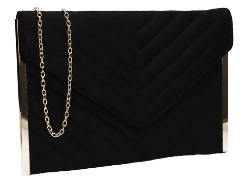 SWANKYSWANS Tessa Clutch Bag Black Cute Cheap Clutch Bag For Weddings School and Work