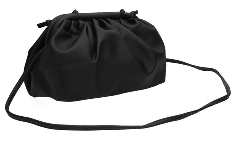Talia Soft Faux Leather Pouch Crossbody Bag Black