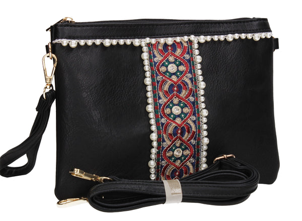SWANKYSWANS Delilah Clutch Bag Black Cute Cheap Clutch Bag For Weddings School and Work