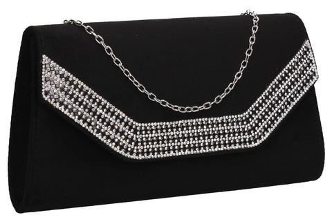 Beautiful Summer Winter Clutch Bag perfect for a party!Harper Clutch Bag Black SWANKYSWANS