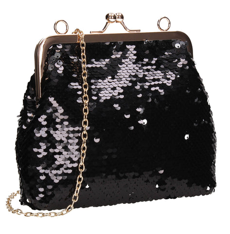 SWANKYSWANS Britney  Clutch Bag Black Cute Cheap Clutch Bag For Weddings School and Work