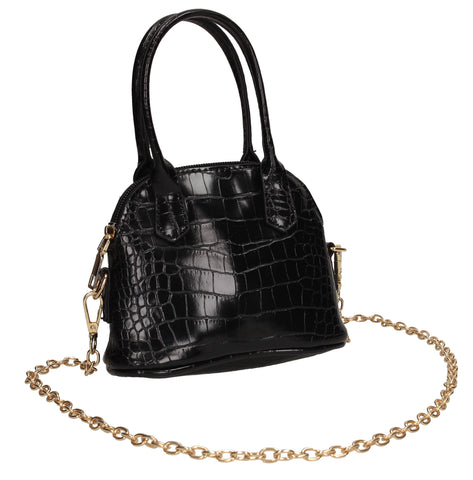 Tina Croc Effect Faux Leather Mini Handbag Crossbody Black