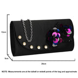 SWANKYSWANS Joyce Clutch Bag Black Cute Cheap Clutch Bag For Weddings School and Work