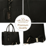 Swanky Swans Naples Cosmo City Handbag BlackCheap Fashion Wedding Work School