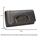 SWANKYSWANS Marcie Clutch Bag Black Cute Cheap Clutch Bag For Weddings School and Work