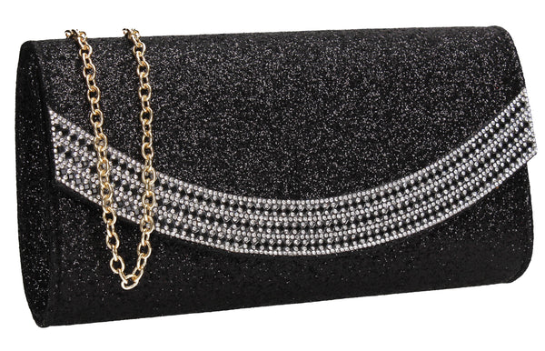 SWANKYSWANS Dakota Clutch Bag Black Cute Cheap Clutch Bag For Weddings School and Work