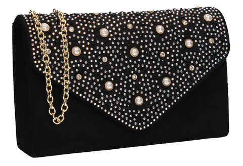 Laurel Clutch Bag Black for Prom, Weddings And more!