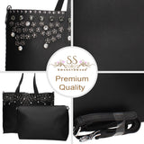 Swanky Swans Klara Handbag BlackPerfect for School, Weddings, Day out!
