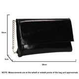 SWANKYSWANS Jenna Clutch Bag Black Cute Cheap Clutch Bag For Weddings School and Work