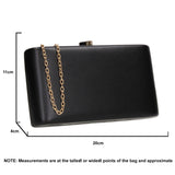 SWANKYSWANS Ruth Clutch Bag Black Cute Cheap Clutch Bag For Weddings School and Work