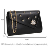 SWANKYSWANS Nylah Clutch Bag Black Cute Cheap Clutch Bag For Weddings School and Work