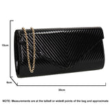 SWANKYSWANS Vanesa Clutch Bag Black Cute Cheap Clutch Bag For Weddings School and Work
