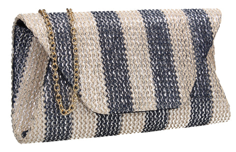 SWANKYSWANS Brook Clutch Bag Blue Cute Cheap Clutch Bag For Weddings School and Work