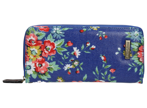 Swanky Swank Hayley Floral Large Purse BlueCheap Cute School Wallets Purses Bags Animal